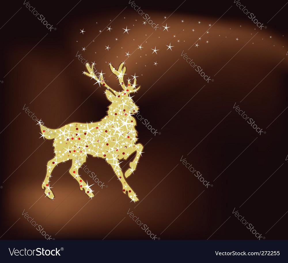 Magic Christmas reindeer vector image