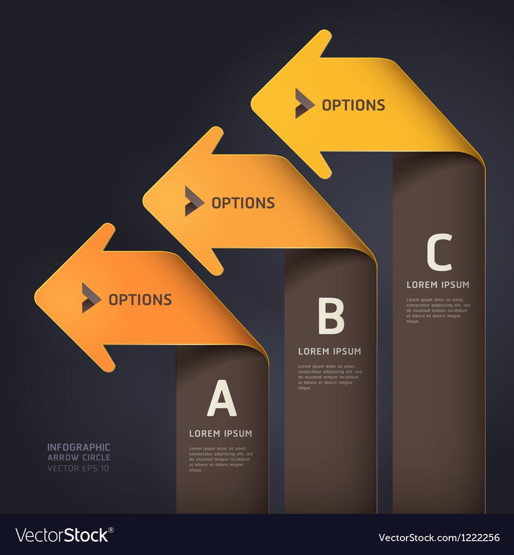 Modern arrow origami style Vector Image