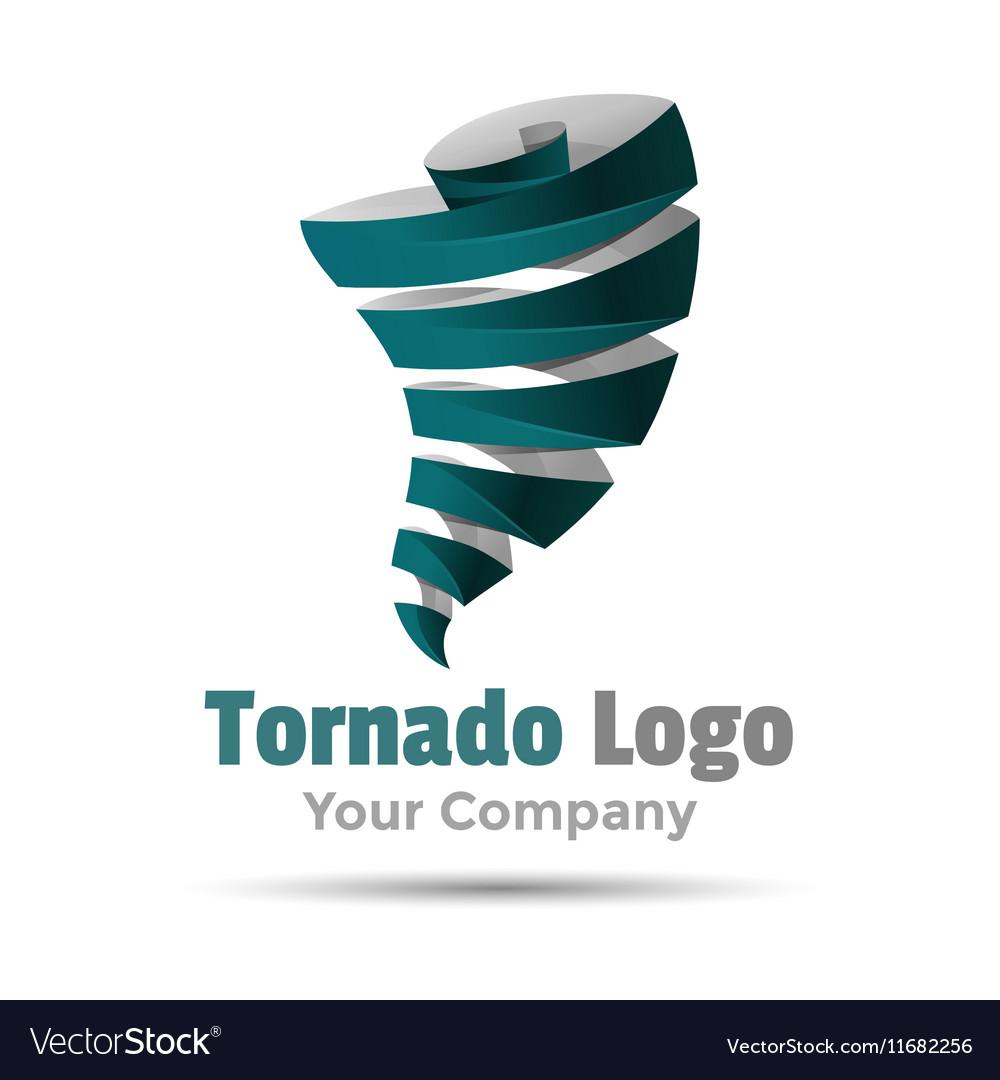 Hurricane typhoon tornado wind storm Volume Logo vector image