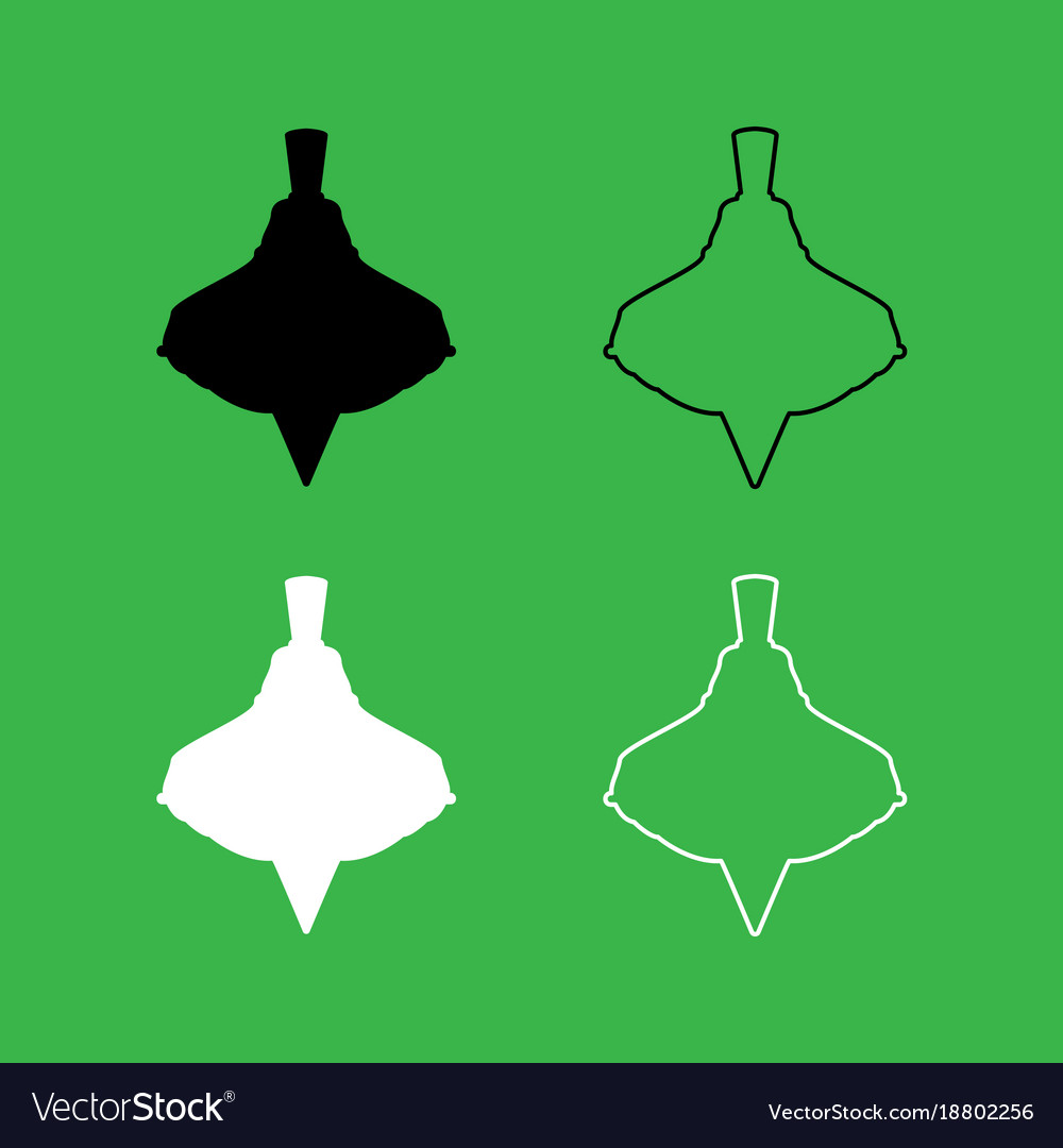 Whirligig icon black and white color set vector image