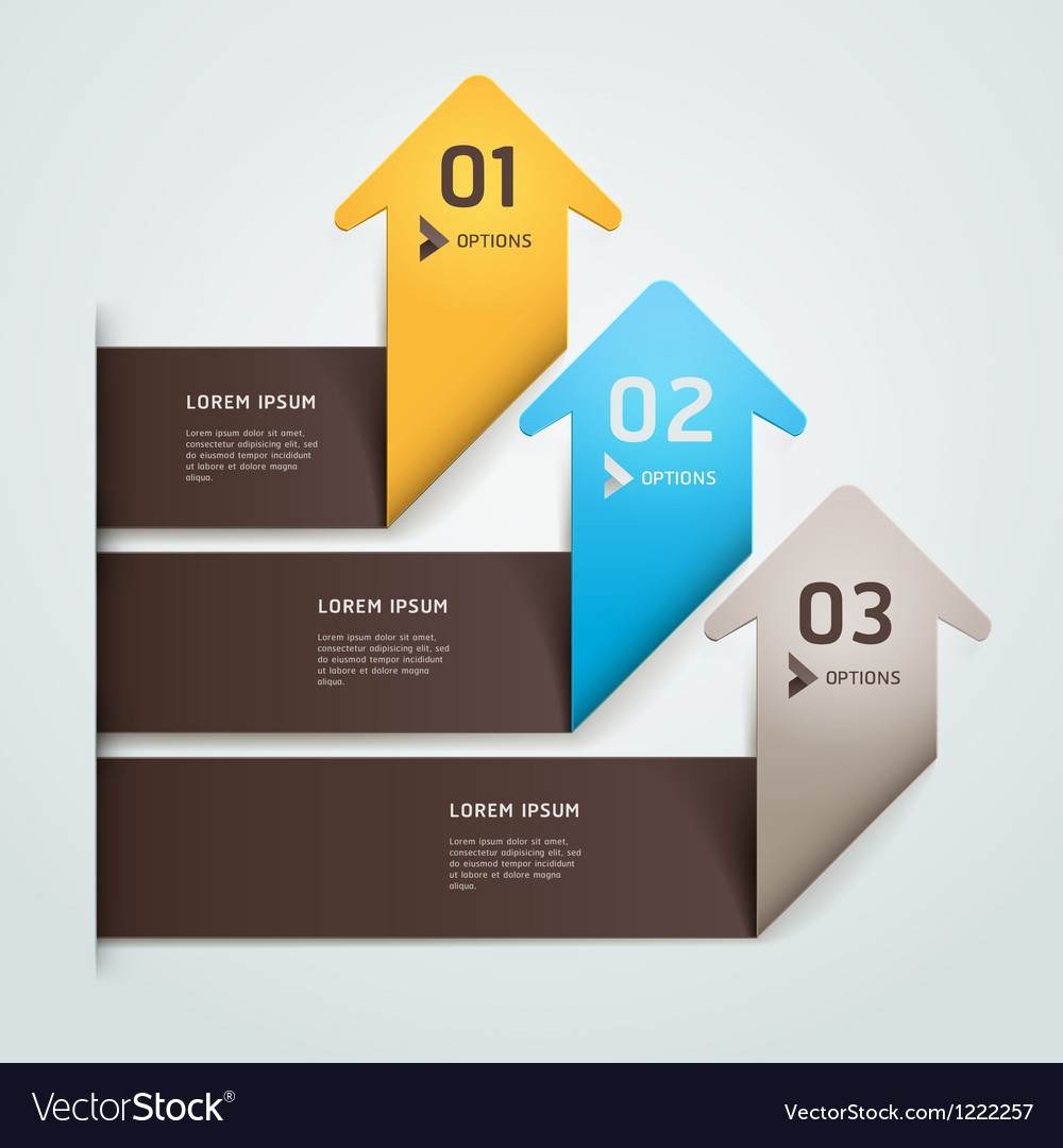 Abstract arrow origami style vector image