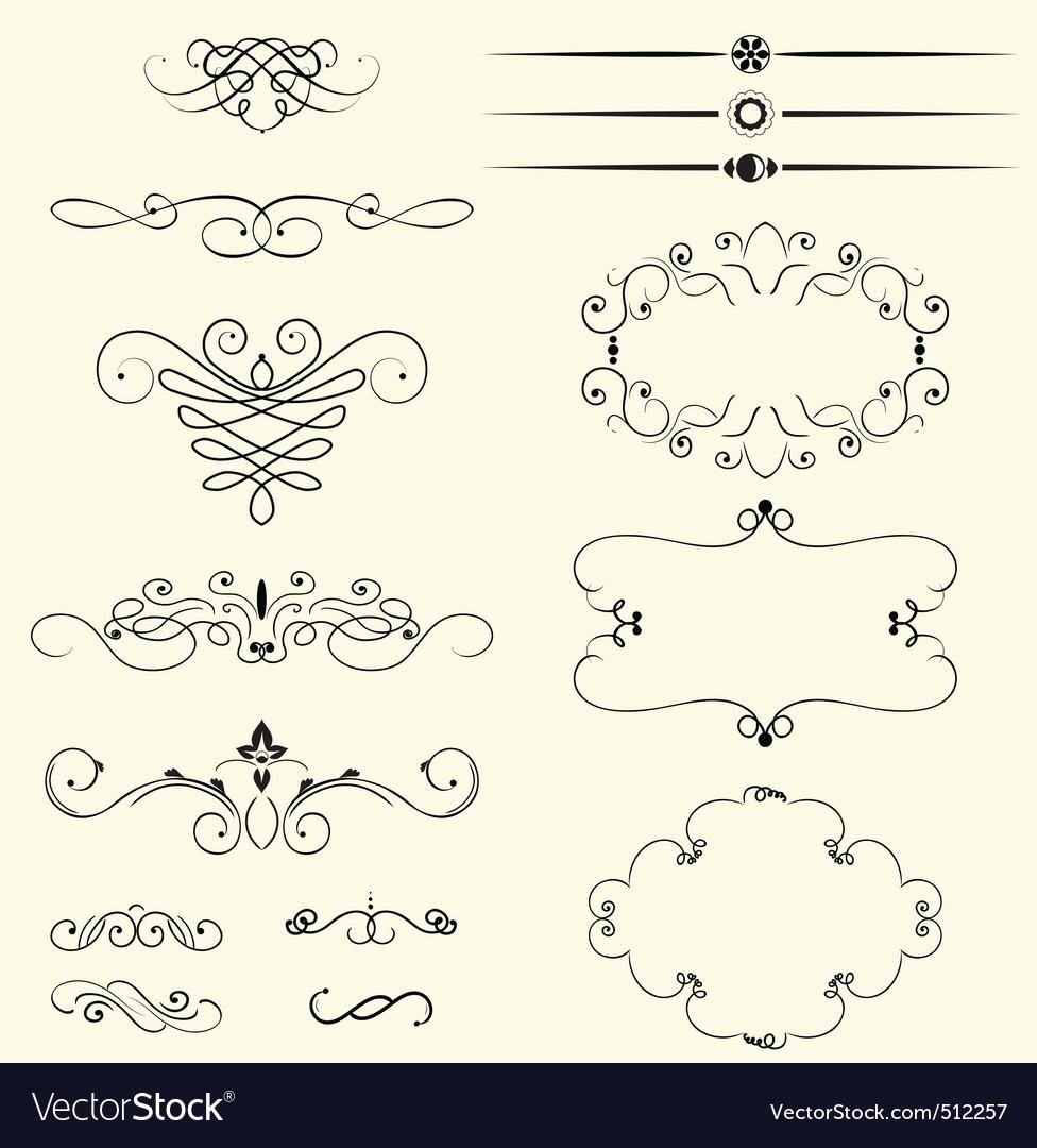 Vintage decorative swirls vector image