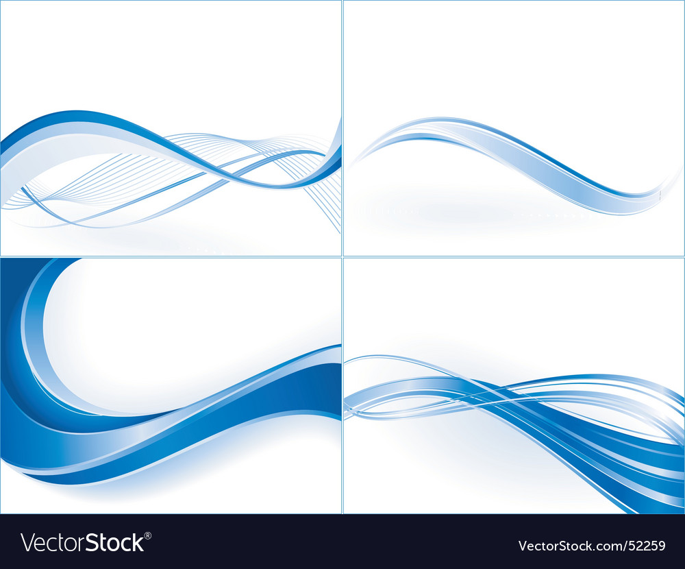 Wave templates vector image