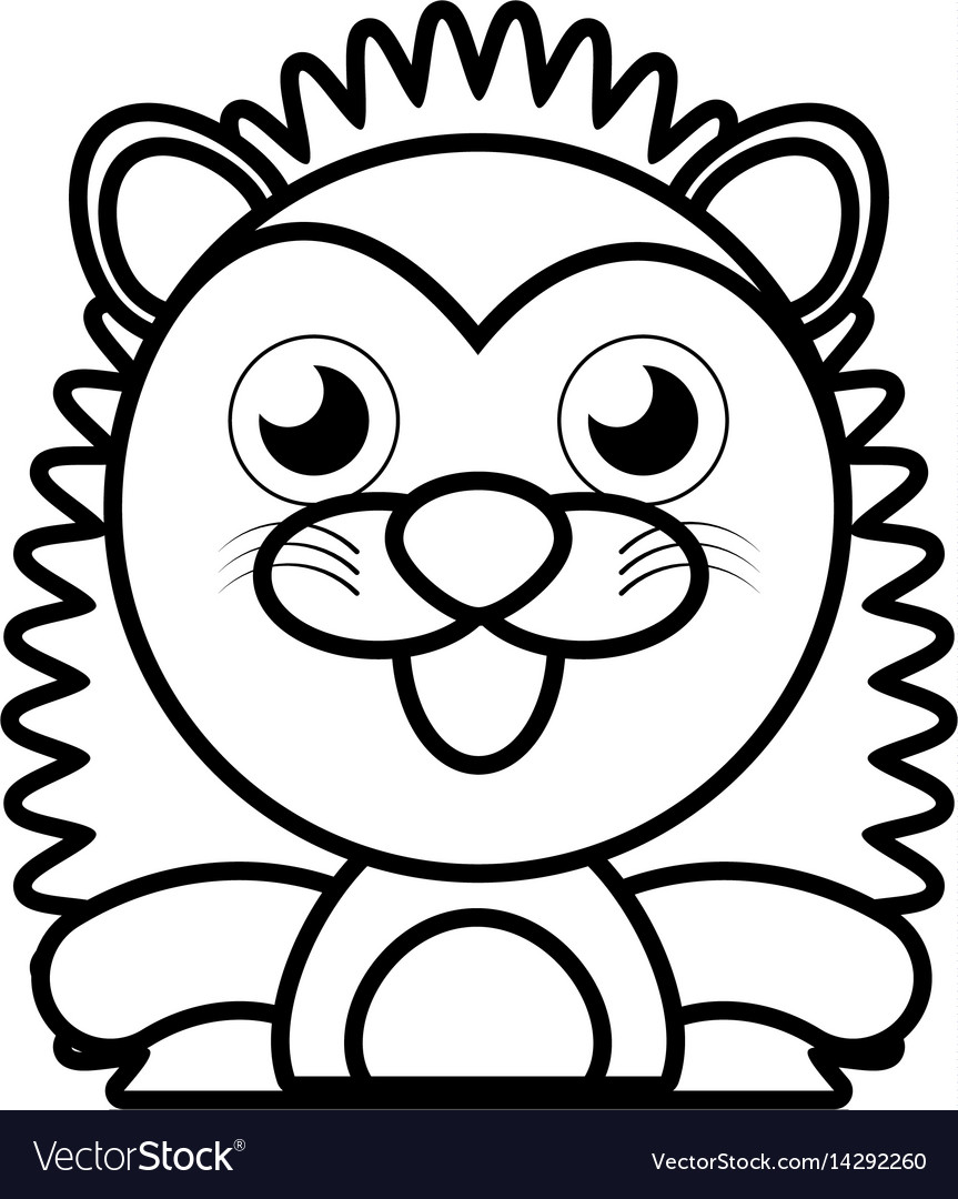 Porcupine animal toy outline vector image
