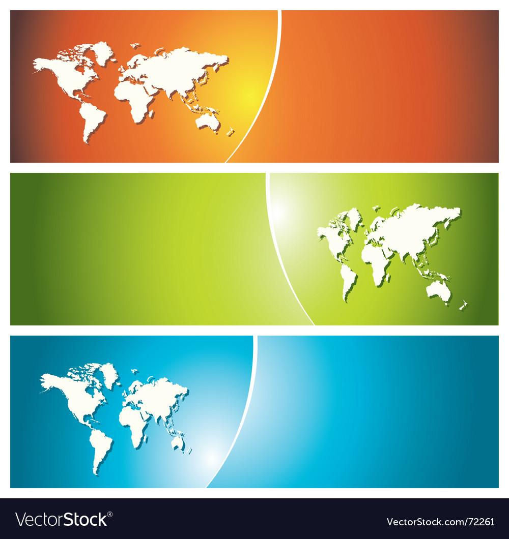 Global banners vector image