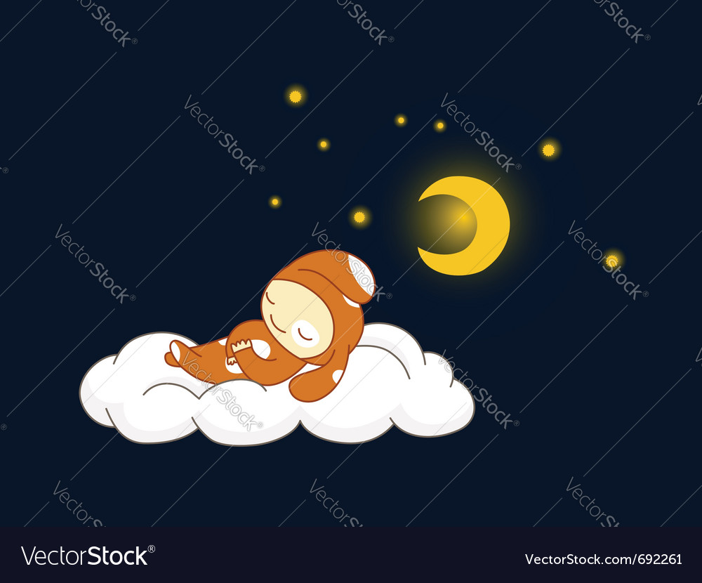 Dog sleeping vector image