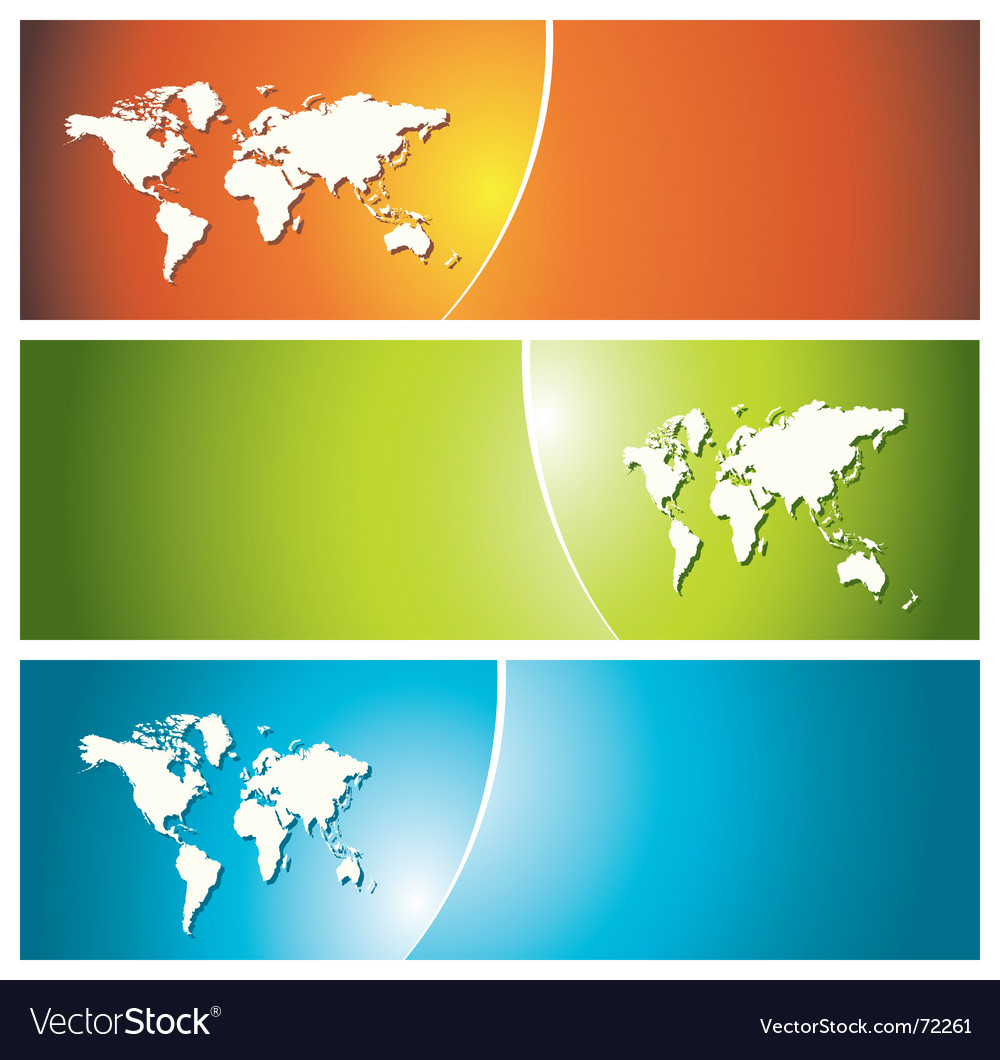 Global banners vector image