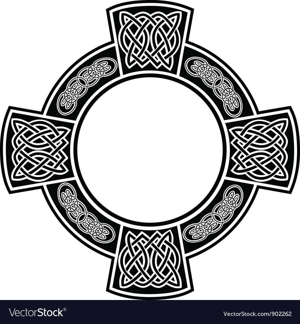 Frame with celtic patterns vector image