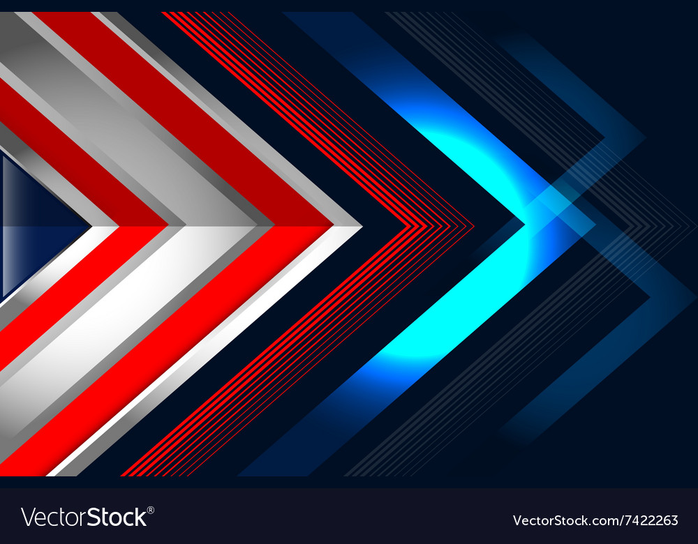 Abstract background red blue vector image