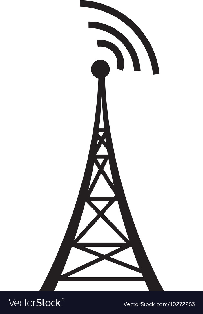 Antenna communication tower vector image