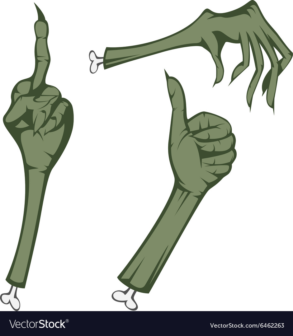 Scary hands vector image