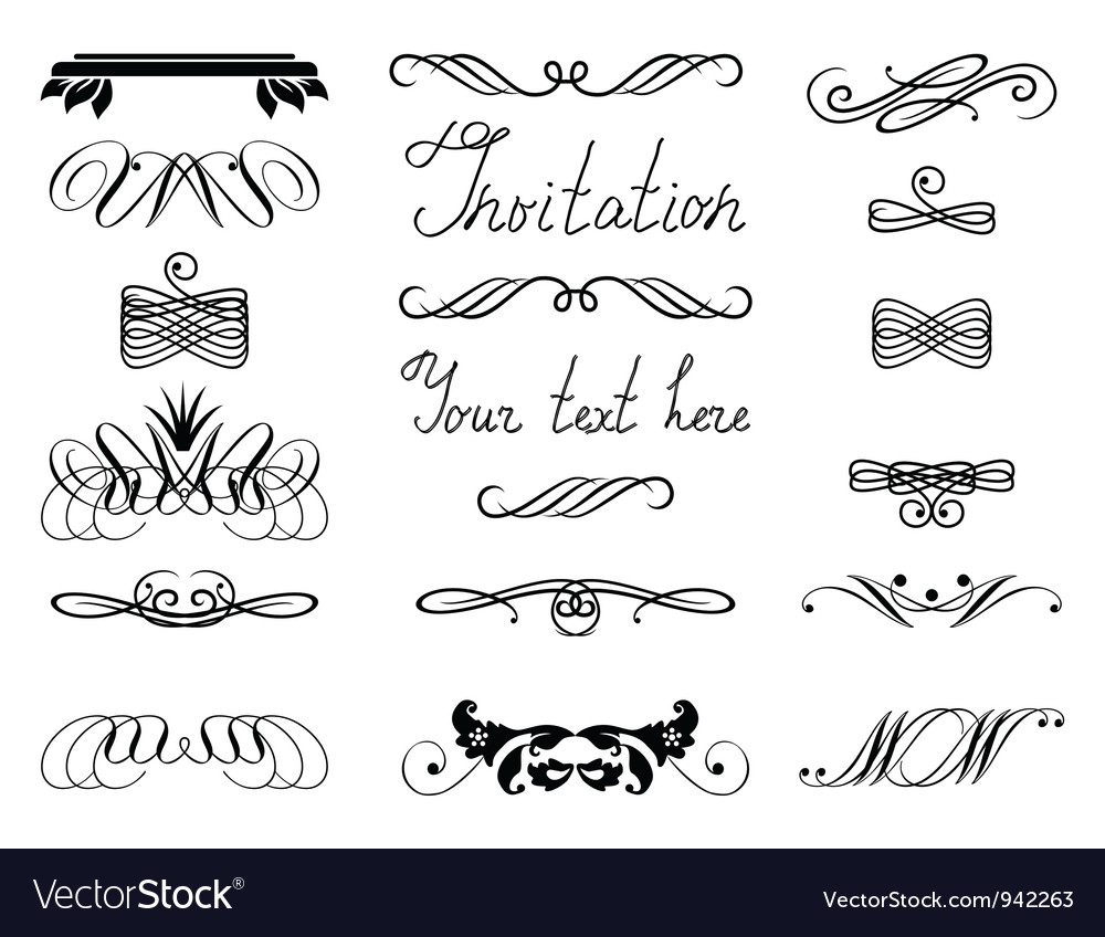 Swirly Motif vector image