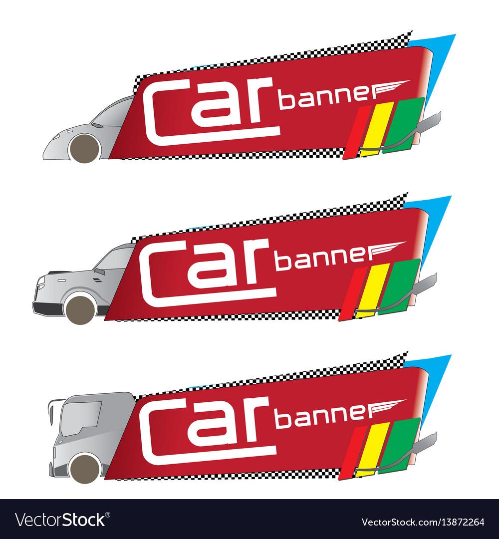 Car banner vector image