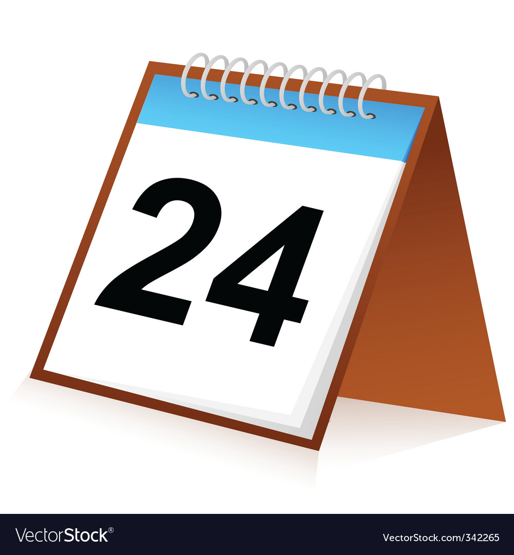 Calender sign vector image
