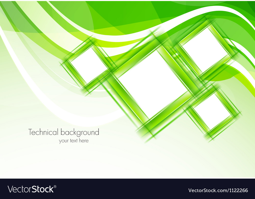 Green background with squares Vector Image