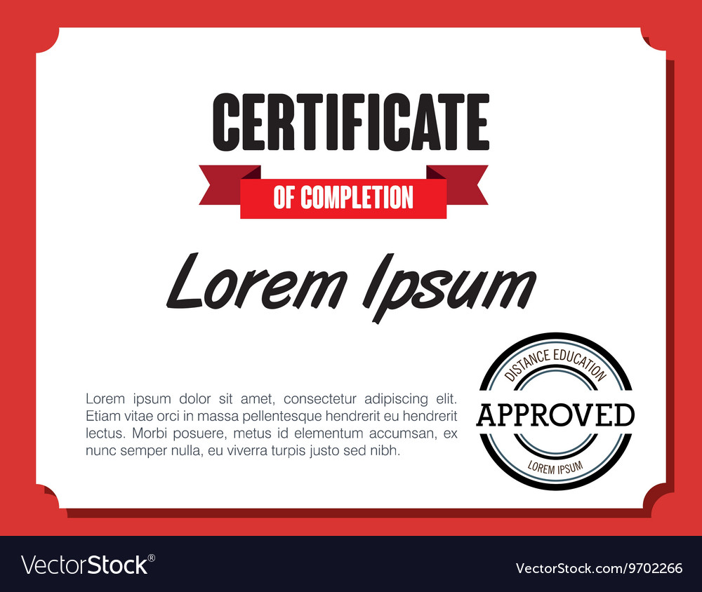 Diploma or certification isolated flat icon vector image