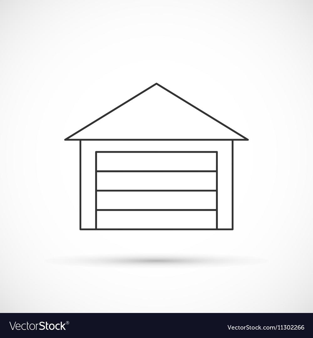 Garage outline icon vector image