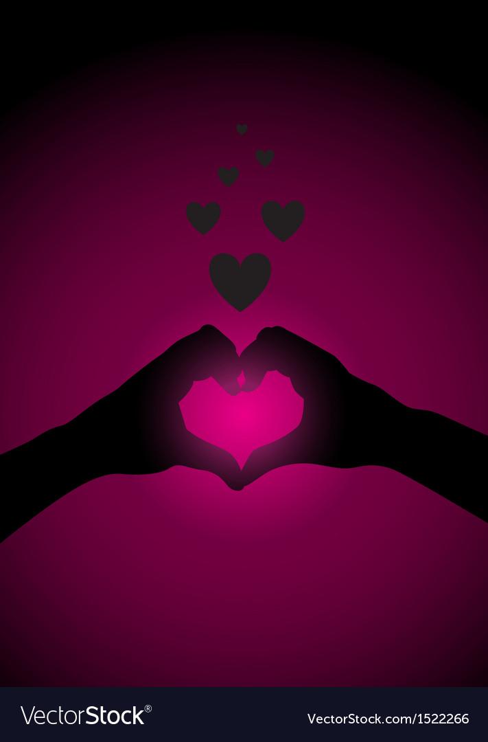 Hands heart vector image