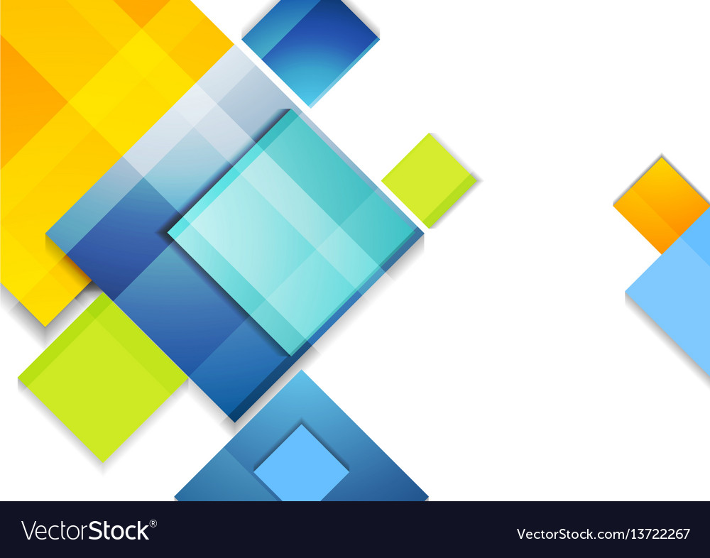 Colorful abstract glossy squares corporate design vector image