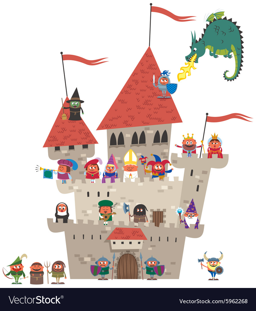 Small Kingdom on White vector image