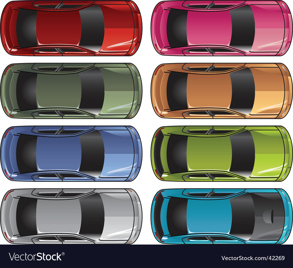 Sedan from above Vector Image