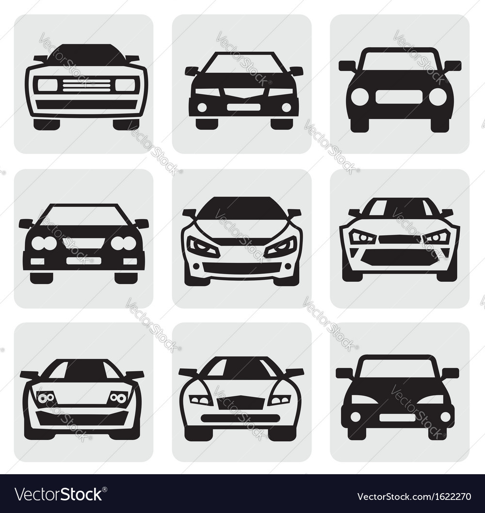 Car symbols set vector image