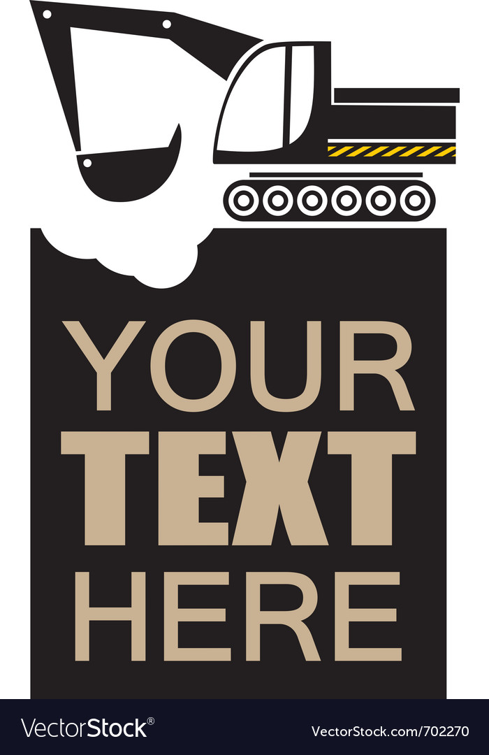 Digger poster vector image