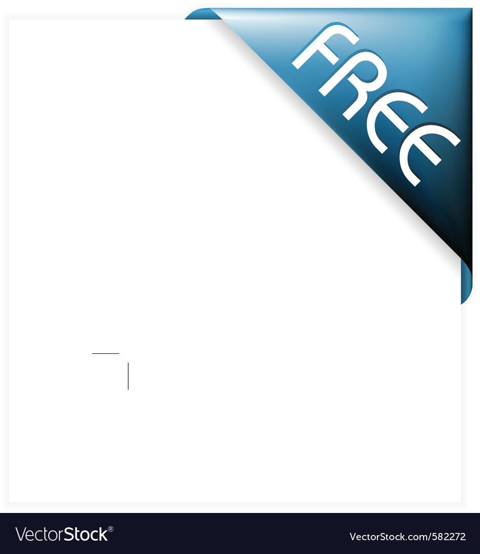 Blue corner ribbon vector image