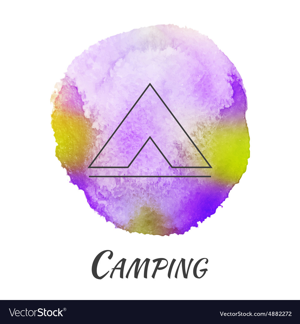 C&ing Tent Travel Watercolor Concept vector image  sc 1 st  VectorStock & Camping Tent Travel Watercolor Concept Royalty Free Vector