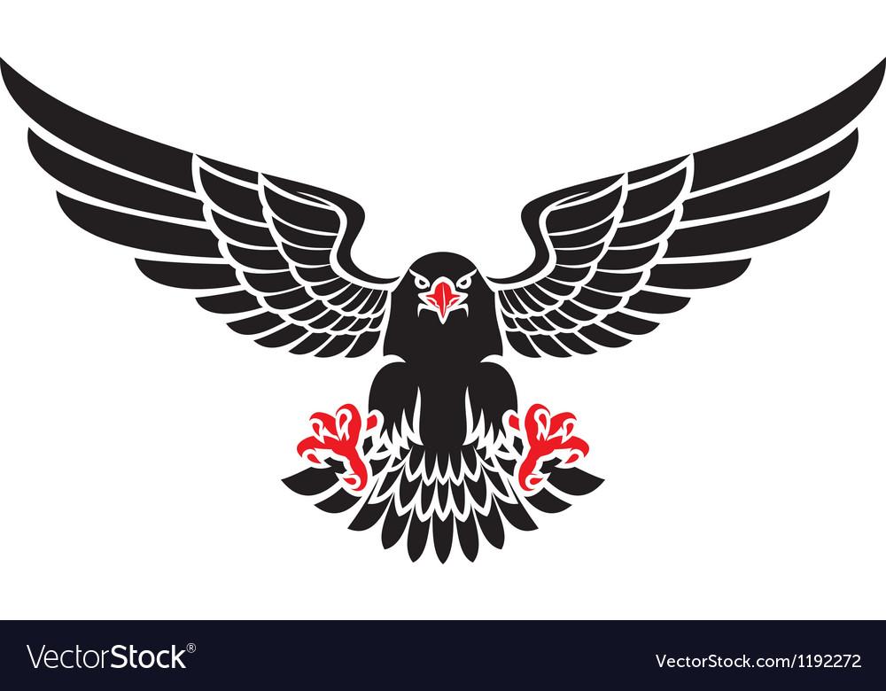 German black eagle vector image