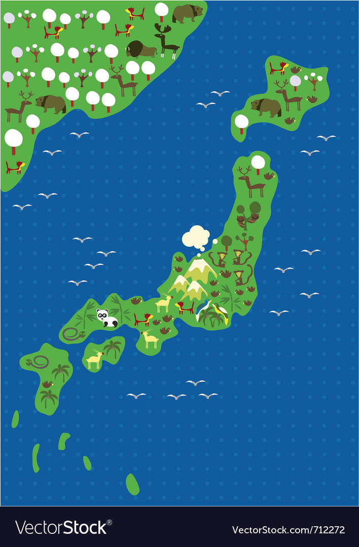 Japan Map Royalty Free Vector Image VectorStock - Japan map vector free download