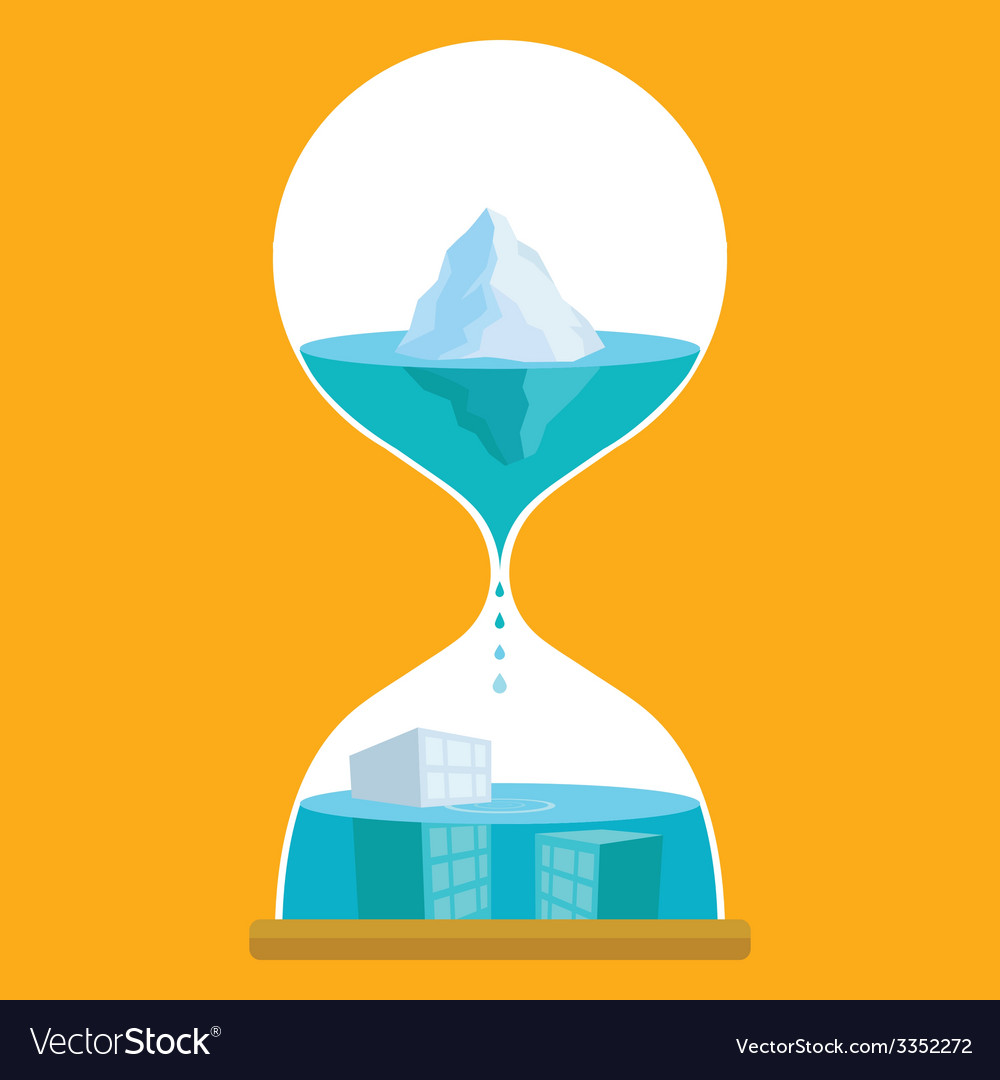 Sand Time Ice vector image