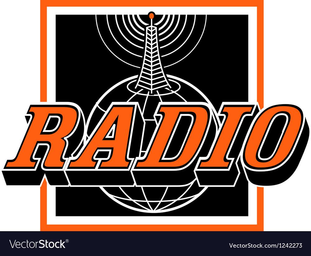 Radio broadcast logo vector image