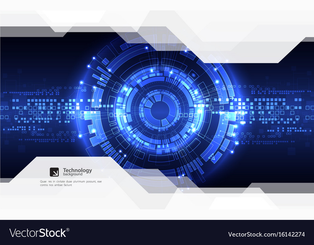 Abstract blue digital communication technology vector image