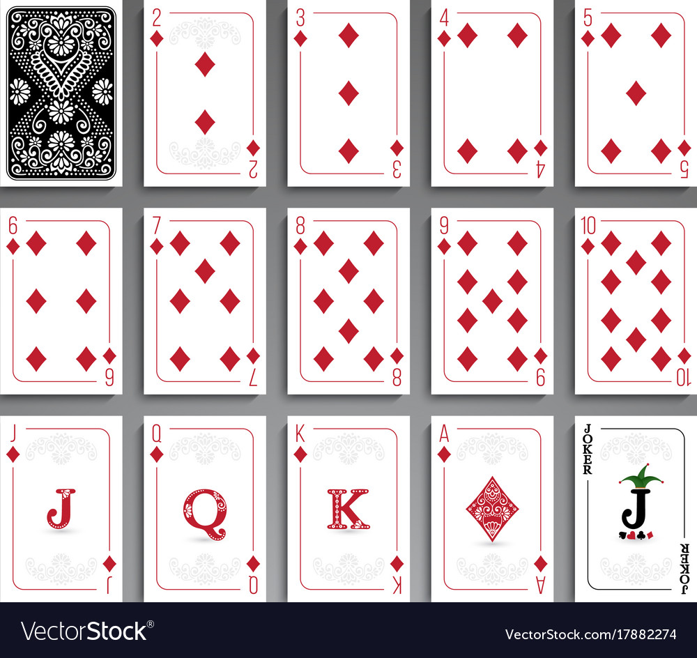 Cards full set vector image
