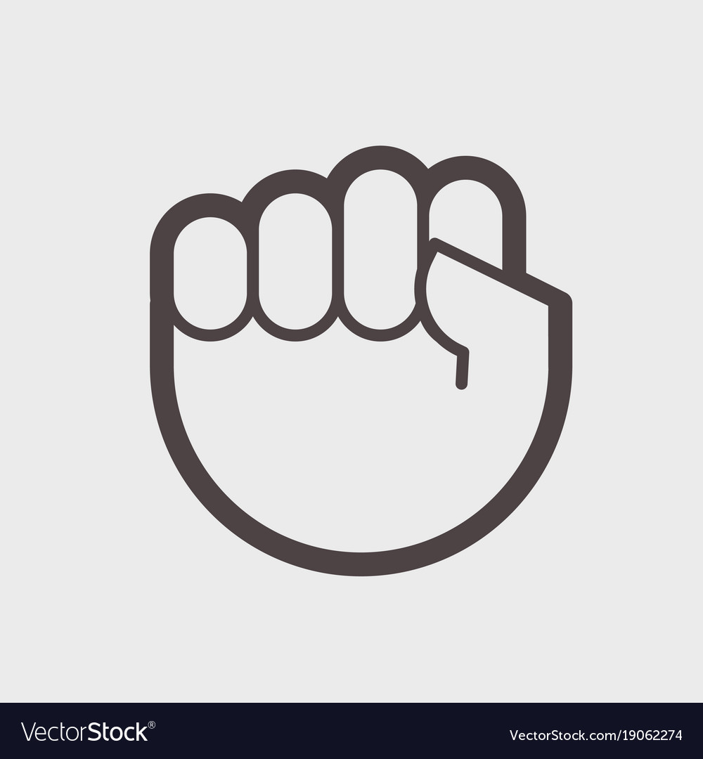 Gesture hand clenched into a fist a symbol of vector image buycottarizona Image collections