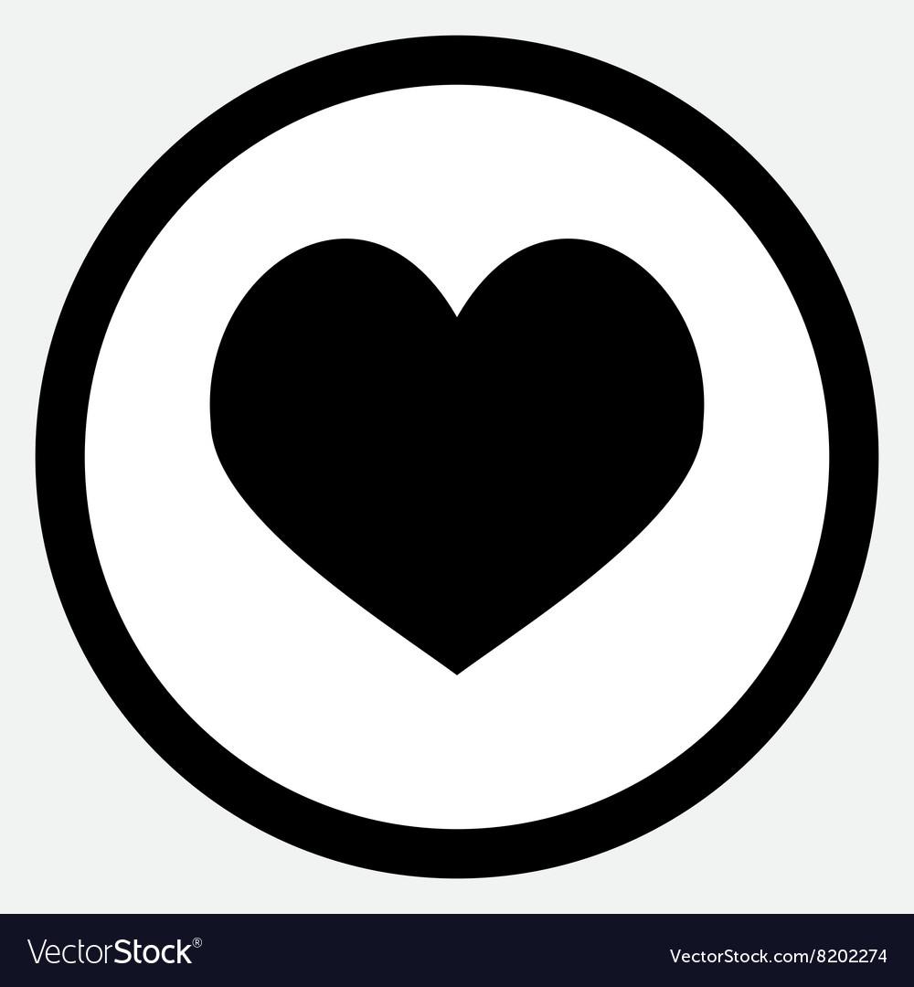 Heart icon black vector image