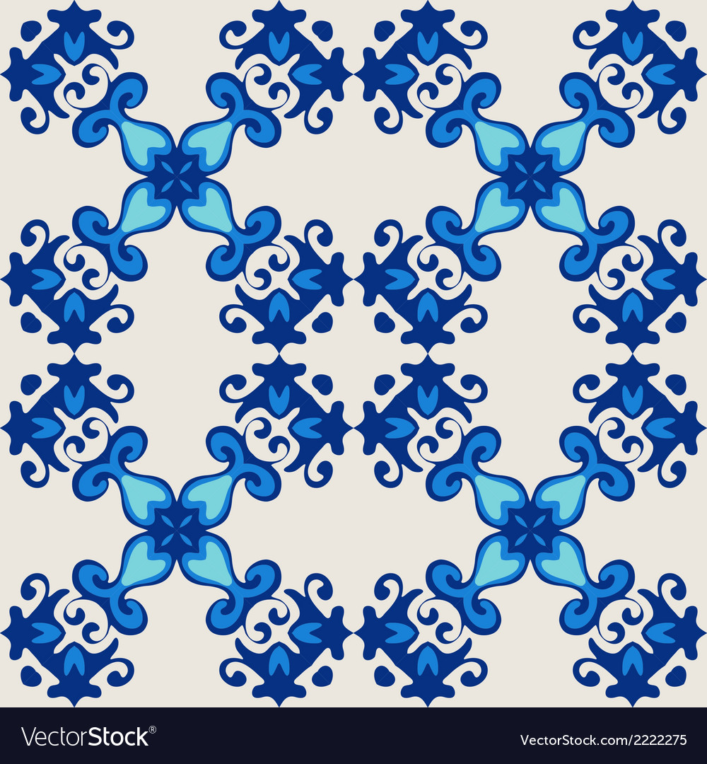 Ornamental seamless flourish vector image
