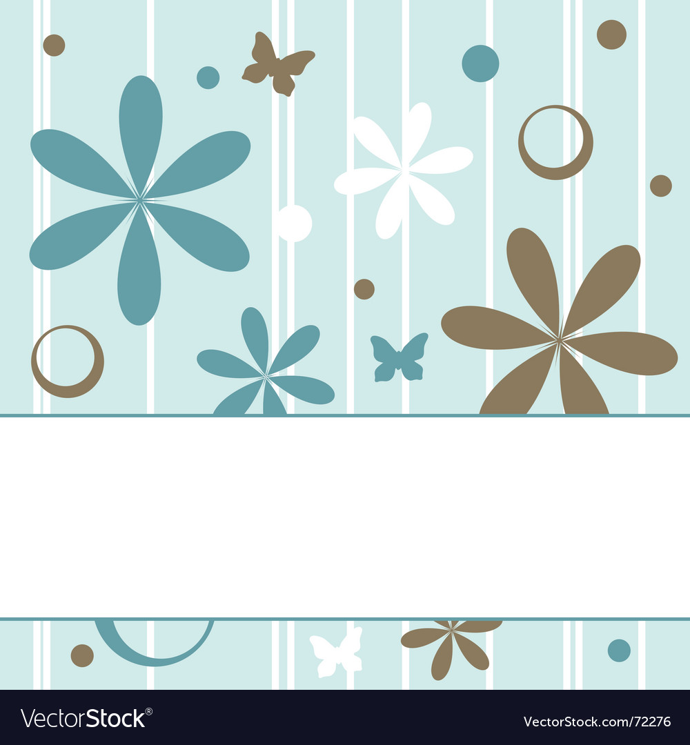 Floral retro background vector image