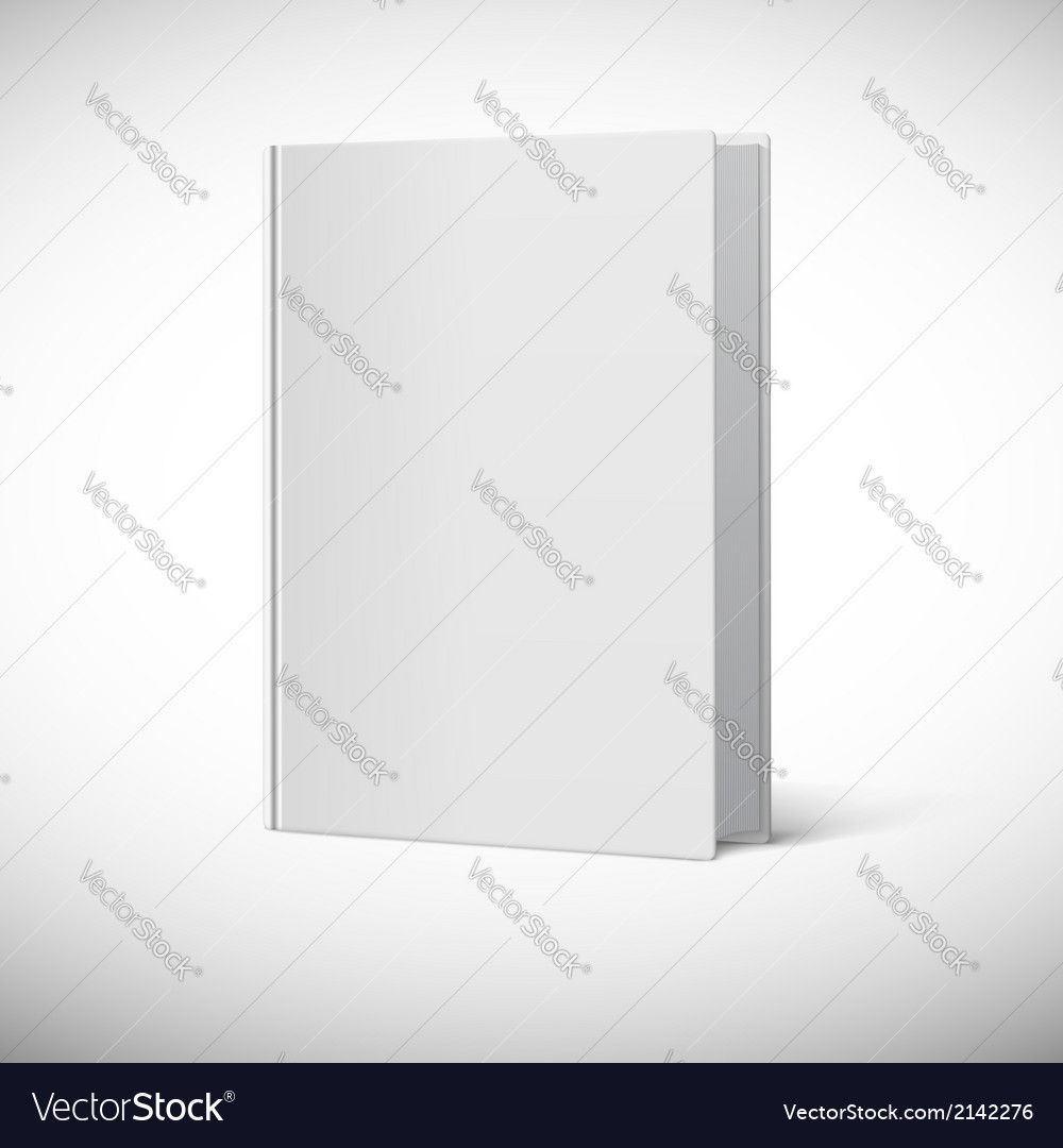 Blank Book Cover Vector Illustration Free : Blank book cover royalty free vector image vectorstock