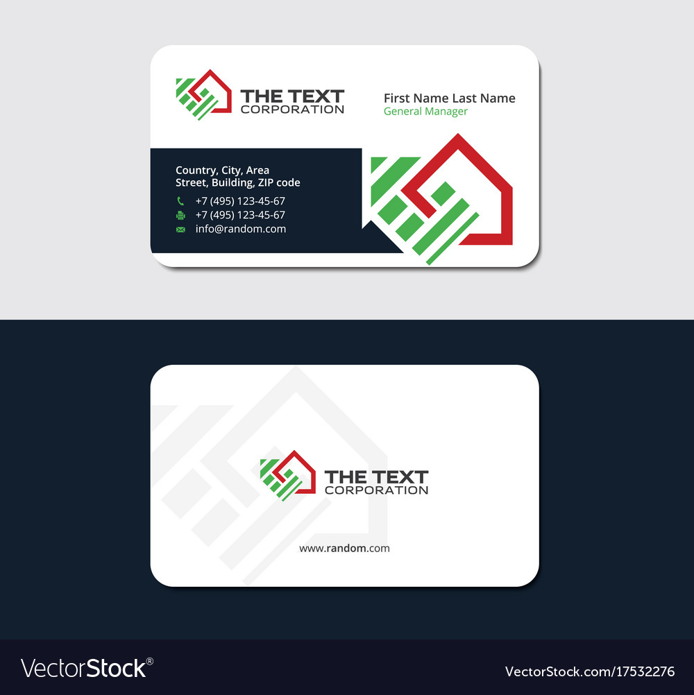 Business card for real estate investment group Vector Image