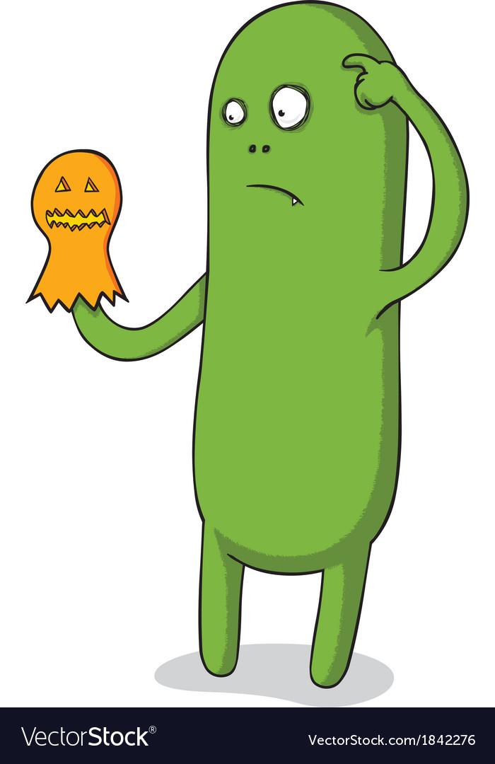 Halloween puppet monster vector image