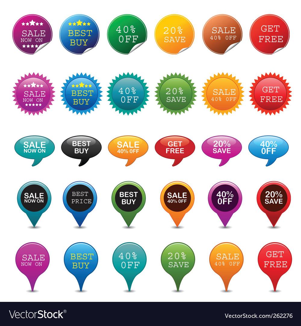 Sale badge vector image