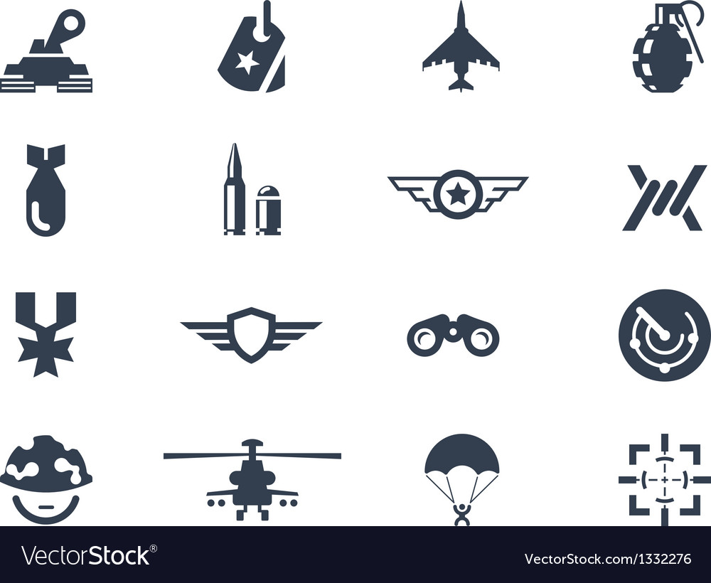 War icons vector image