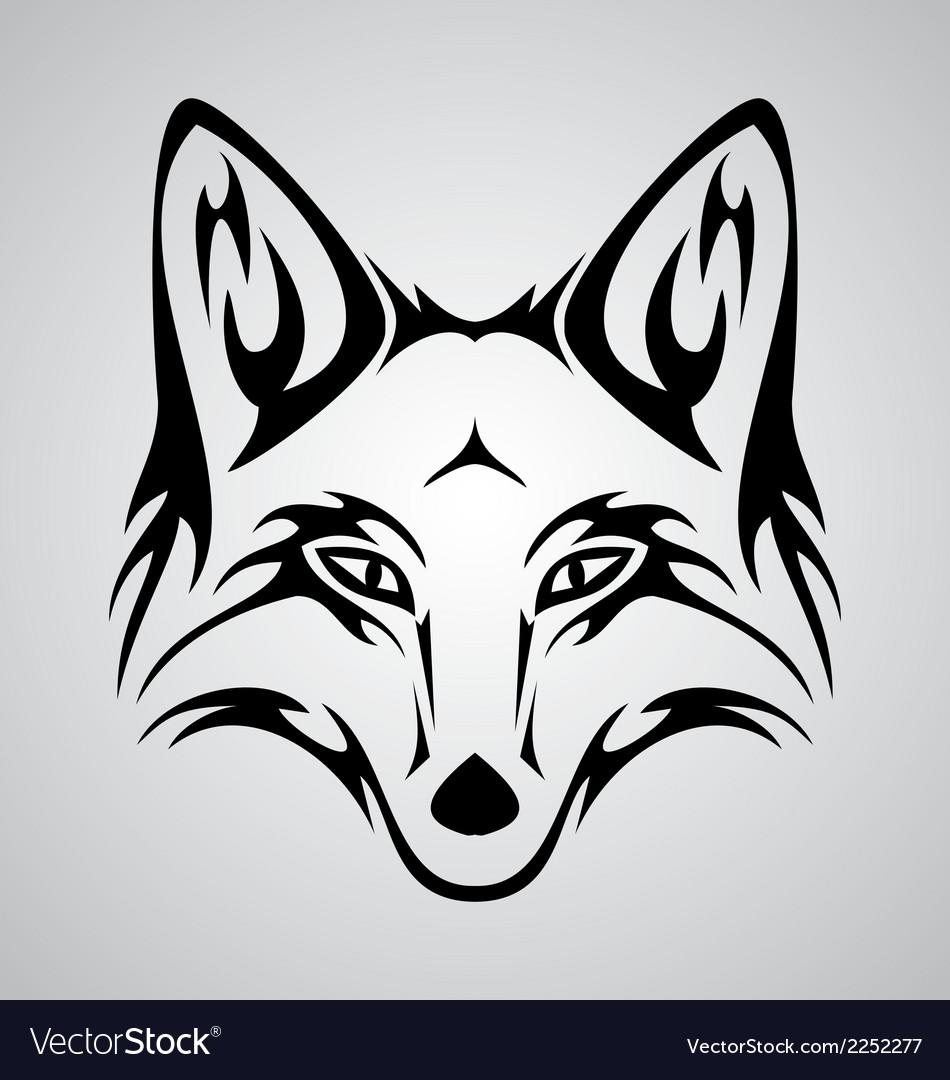 Fox Tattoo vector image