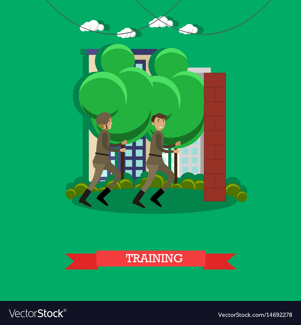 Military physical training concept vector image