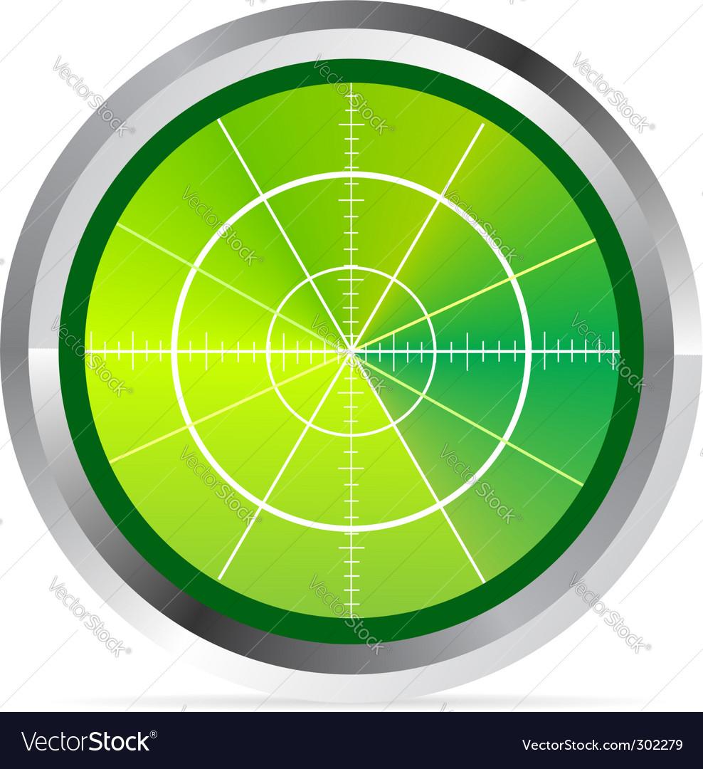 Oscilloscope monitor vector image