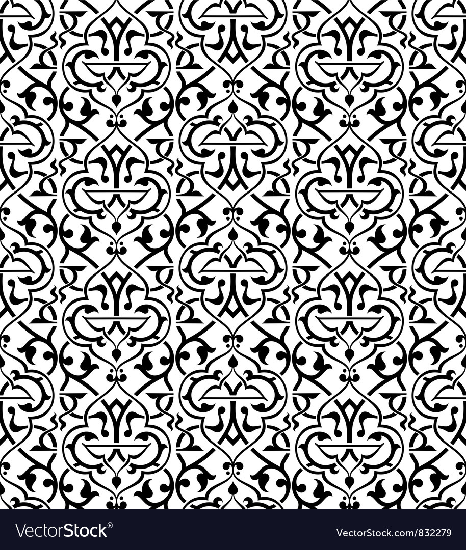 Seamless arabesque pattern royalty free vector image for Arabesque style decoration