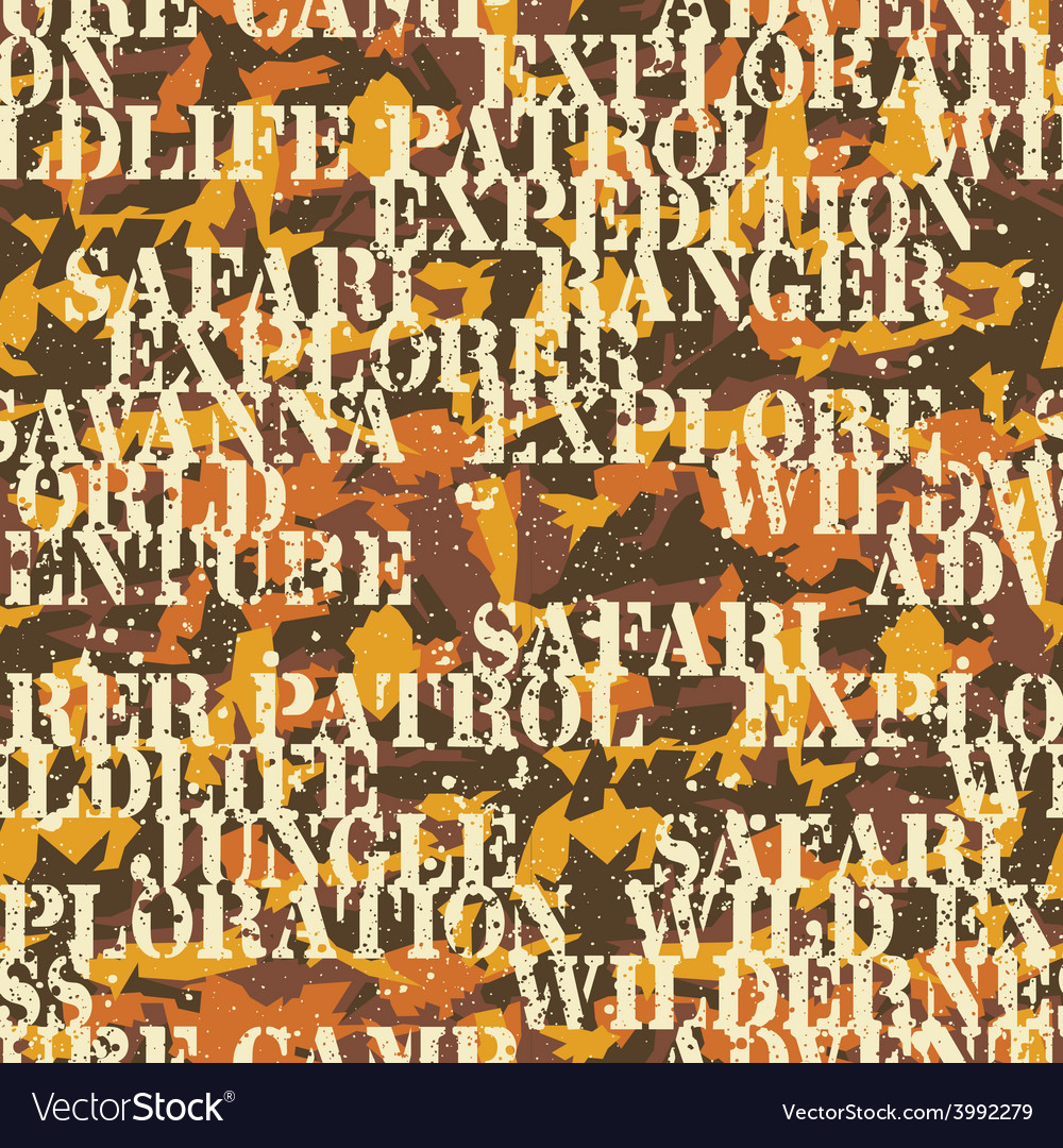 Written camouflage vector image