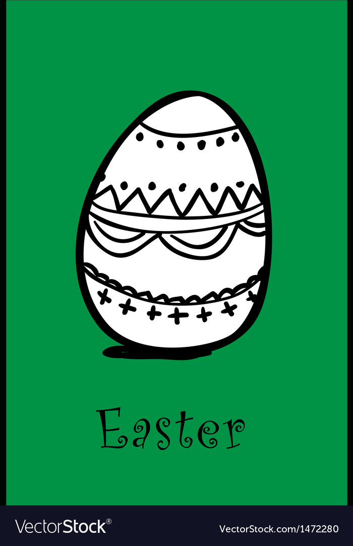 Egg on green vector image